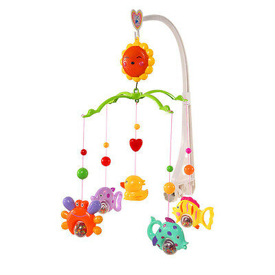 Music Box Cute Bed Toy Cartoon Gift Nursery with Baby Crib Bell Mobile Wind-up