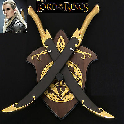 Lord of the Rings/TheHobbit Legolas Elven Double Swords with Scabbard and Plaque