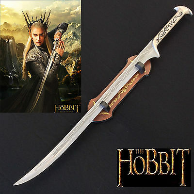 The Hobbit Elvin King Thranduil Sword with Plaque