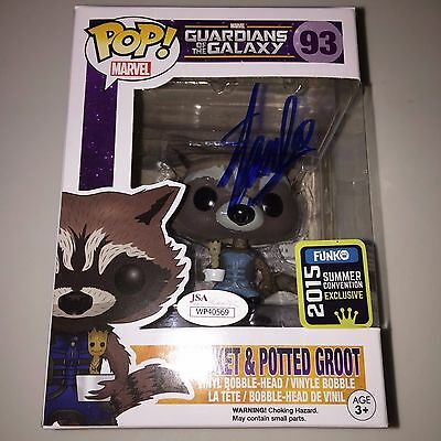 Funko Marvel Pop ROCKET RACCOON & POTTED GROOT STAN LEE SIGNED #93 autograph