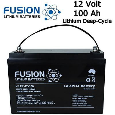 12V 100AH LITHIUM ION LiFePo4 DEEP CYCLE BATTERY CARAVAN SOLAR CAMPING SOLAR