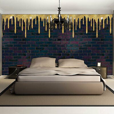 bild tapete fototapete wandbild tapeten 3d ziegel gelb wand weiss foto 3007 p4 eur 16 90. Black Bedroom Furniture Sets. Home Design Ideas