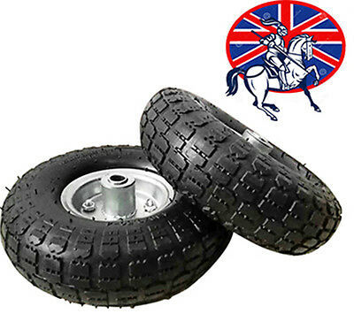 "2 x REPLACEMENT 10"" INCH PNEUMATIC SACK HAND TRUCK TROLLEY WHEEL BARROW TYRE"