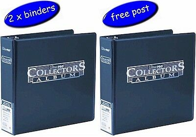 2 x Blue Ultra Pro Collectors Album/Binder 3 Inch 3 Ring - Blue - Free UK Post