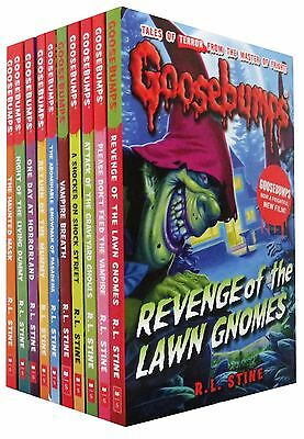 R.L.Stine Goosebumps Collection 10 Books Set NEW Children Gift Pack Haunted Mask
