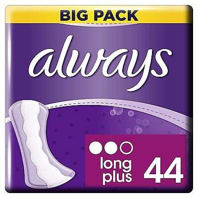 Always Dailies Pantyliners Long Plus Clean Absorb Protect Mega Pack 44 Pads