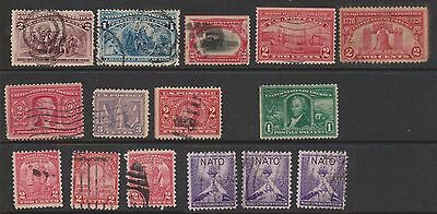 (OL-94) 1893-1941 USA mix of 33 1c to 10c