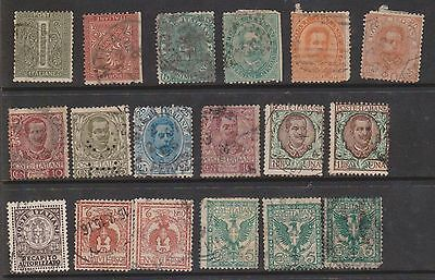 (OL-6) 1863-1991 Italy mix of 62 stamps 1c to 20L