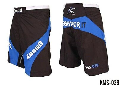 Kango MMA Combat Grappling Shorts Muay Thai UFC Cage Fighting Training Trunks