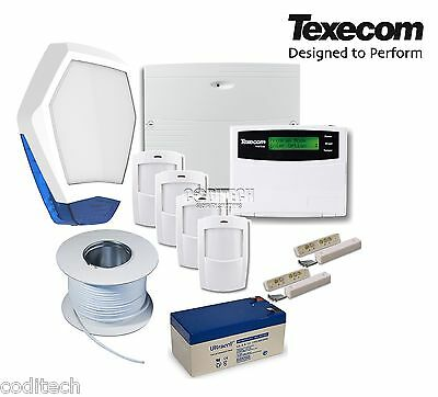 Texecom Veritas Excel Fully Featured Wired Burglar Alarm Kit with Petwise PIRs *