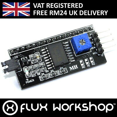 LCD IIC/I2C Serial Interface Adapter Board 1602 2004 Crystal Flux Workshop