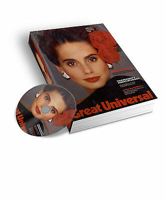 1988 Great Universal Spring Summer Mail Order Catalogue  Pdf & Jpeg On Dvd