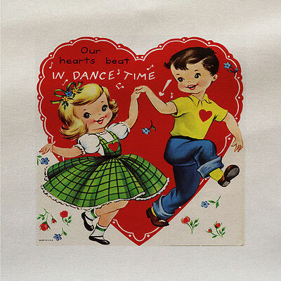 our hearts beat in dance Fabric Panel Make Cushion Upholstery Craft Cotton