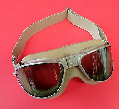 An-6530 Navy Issue Flying Goggles W/khaki Colored Cushion