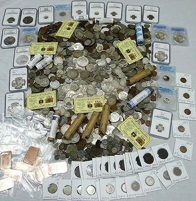 70+ Coins From Estate! Silver,ngc,pcgs,proof,ancient,wwii,error,100 Years!!!