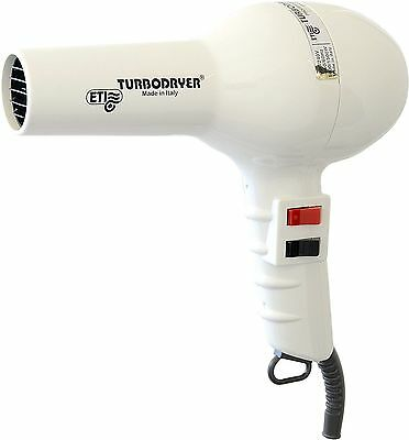 Turbo Hair Dryer Professional Quality ETI 2000, Colour WHITE