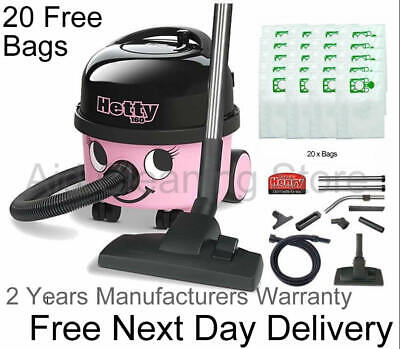HETTY HOOVER HET160A2 620 Watts Cylinder Bagged Vacuum Cleaner Pink 2016 MODEL