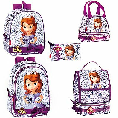 Princess Sofia Purple Backpack Rucksack Official Girls School Lunch Bag Disney