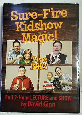 Sure-Fire Kidshow Magic! Live 1983! DVD Lecture and Show by David Ginn