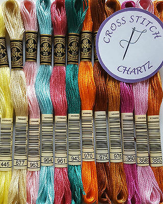 100 - 250 DMC THREADS Skeins CROSS STITCH Floss PICK YOUR OWN COLOURS FREE P&P