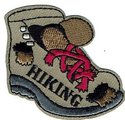 Boy Girl Trail HIKING BOOT HIKE HIKER trip Fun Patches Crests GUIDE SCOUTS Miles