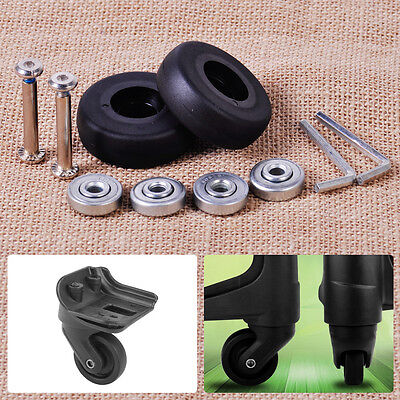 2x Luggage Wheel Suitcase Replacement kit Axles Wrench Bearing OD 40/45/48/50mm