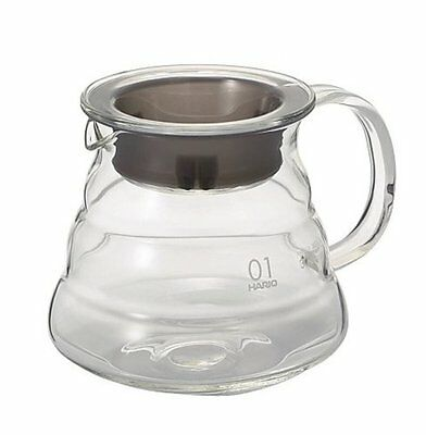 Hario V60 Range Coffee Server 360Ml Glass Clear Coffee Pot Tea Pot XGS 36TB New