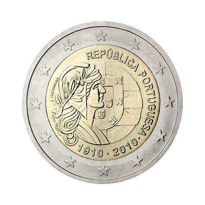 "Portugal 2 Euro commemorative coin 2010 ""Republic"" - UNC"