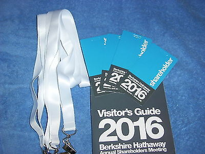 4 Berkshire Hathaway 2016 Annual Meeting Credentials