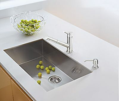 SINGLE BOWL LUXURY Hand Made 28 Inch Undermount Stainless ...