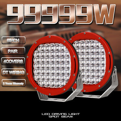 9''59800W Cree Led Work Driving Light Spot Lights Offroad4x4 HID ROUND TRUCK ATV