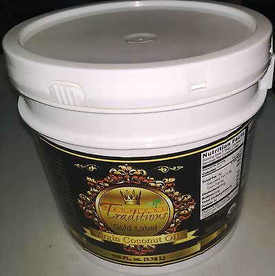 Certified Organic Virgin Tropical Traditions GOLD LABEL coconut oil - 1 Gallon