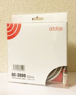 NEW Ortofon Interconnect Cable RCA 1.5m Pair AC-3800 SILVER from JAPAN