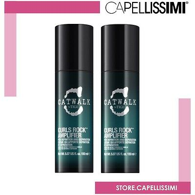 TIGI Catwalk Curls Rock Amplifier 150ml x 2 pezzi |Capelli Ricci Modellante HAIR