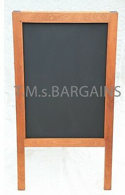 A Board Sapele Pavement Display Frame Blackboard Chalk Advertisment Chalkboard