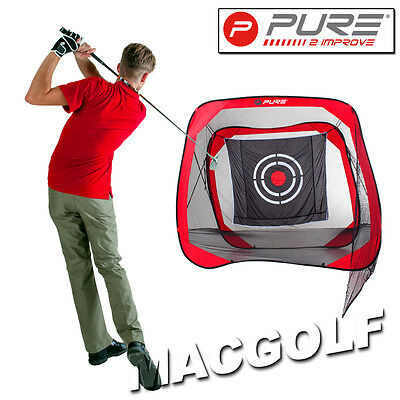 "Pure2improve Golf Trainingshilfe ""Practice Net Square"" Kostenloser Blitzversand"