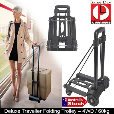 SHOPPING TRAVEL BOAT Folding FOLDABLE Luggage Hand Trolley Lightweight 4 Wheels