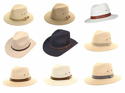 Classic Unisex Quality 100% Cotton Summer Panama Fedora Trilby Hat With Band