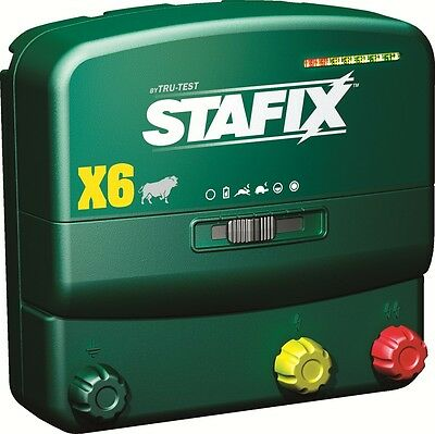 Stafix X6 Energizer, 60 Mile Fence Charger. AC/DC Powered, 240 Acres