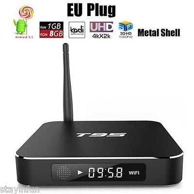 T95 S905 Smart TV Box Quad Core Android 5.1 XBMC Fully Loaded Media Player