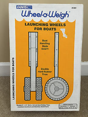 "NEW Davis Instruments Wheel-a-Weigh Launching Wheels for Boats #1461 8"" 250lb"