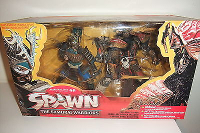 SPAWN THE SAMURAI WARRIORS Action figure McFarlane EXCLUSIVE 2 PACK in BOX (S1)
