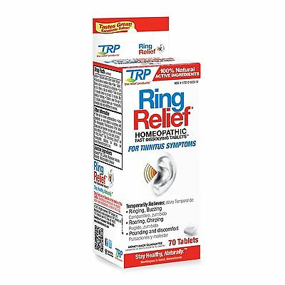 TRP Ring Relief Homeopathic Fast Dissolving Tablets 70 count - New