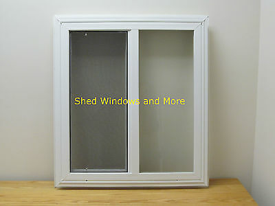 "Double Pane Horizontal 24"" x 27"" Window Vinyl Mobil Homes Tiny Houses Playhouses"