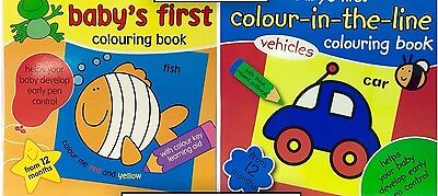 Baby's First Colouring Book - Helps Your Baby Develop Early Pen Control Fish Car