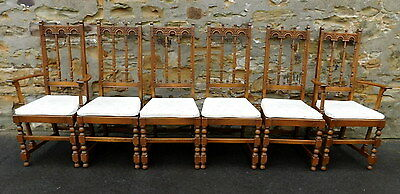 Set Of Six Ercol Old Colonial Yorkshire Chairs Golden Dawn