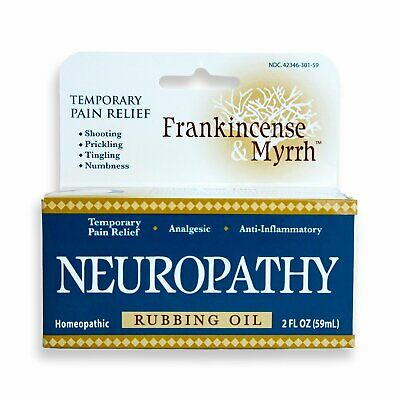 NEW Frankincense And Myrrh Neuropathy Rubbing Oil, 2 Fluid Ounce  Pack of 3