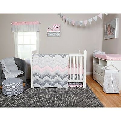 Trend Lab 101020 Cotton Candy Chevron 3 Piece Crib Bedding Set NEW