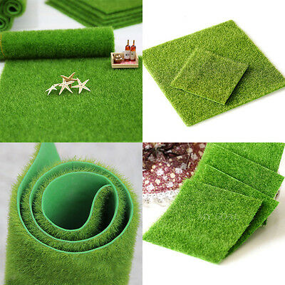 Artificial Grass Fairy Garden Ornament Dollhouse Fake Lawn Miniature Craft Decor