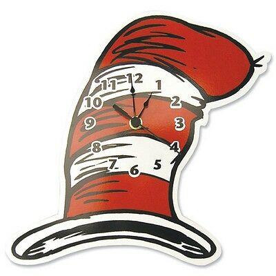 Trend Lab Dr. Seuss Cat in The Hat Wall Clock Multicolor - 30069